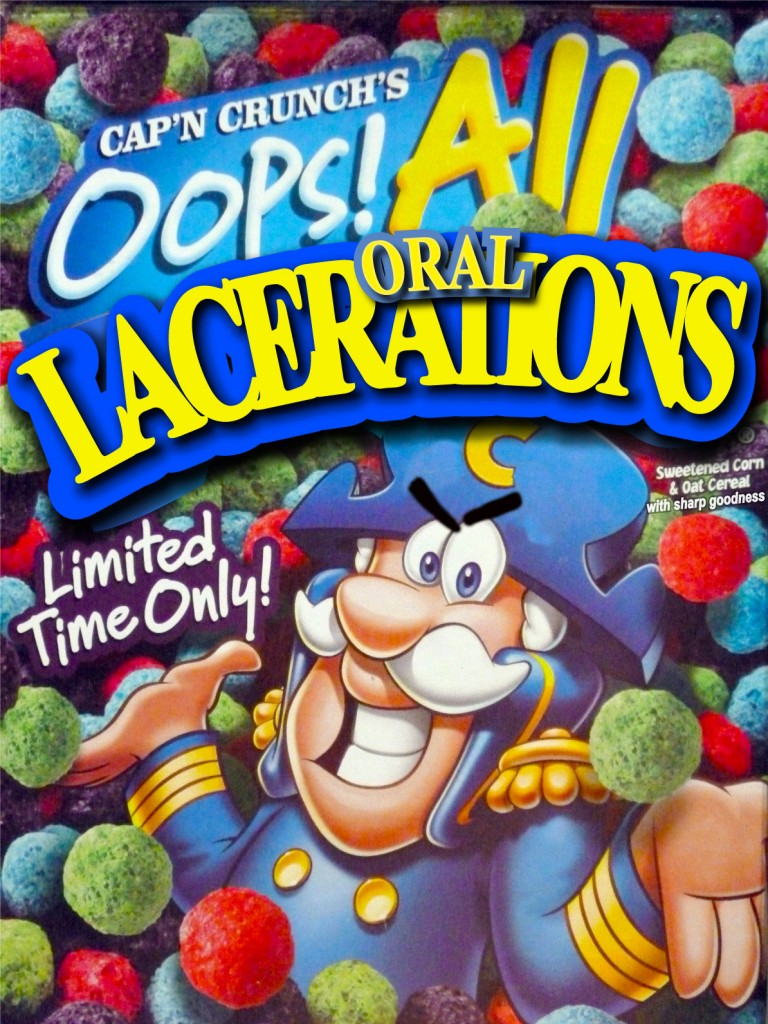 capn crunch roof of mouth